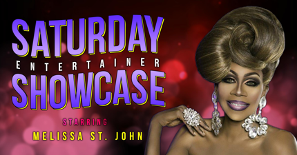 pink/red bokeh background Saturday Night Showcase with Melissa St. John